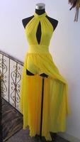 Fashion female singer rihanna fashion costume costumes sexy one-piece dress