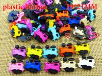 200PCS cartoonS train plastic color  round buttons woollen KIDS button MIXED BULK P-119