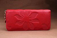 New Designer Genuine Leather women's wallet Flower Pattern Ladies Purse Name Brand Clutch Bag BB0602