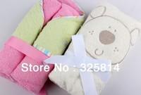 Free shipping cute animals cartoon 100% Cotton baby Bathrobe,Children Beach Towel,Kid Bath Robe hooded,75cm*75cm
