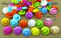 200PCS SMIling FACE PLASTIC button 15MM sweater KIDS buttons MIXED BULK P-116