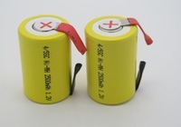 DHL/FEDEX  shipping 500pcs/lot 1500mAh 4/5 SubC 4/5 SC NiCD rechargeable cell with solder tags