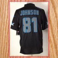 Detroit 81 Calvin Johnson Black Impact Limited Football Jerseys 2013 New Free Shipping