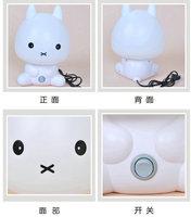 Creative cute little  energy saving lamp&Elf cartoon rabbit lamp&Bedroom bedside lamp&Baby children's room Bedroom Nightlight