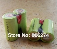 free    shipping 10pcs/lot 5000mAh SubC SC NiMH rechargeable cell with solder tags