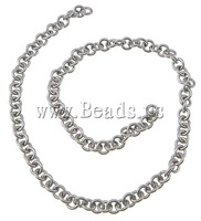 Free shipping!!!Stainless Steel Chain,Jewelry Making, oril color, 3.50x0.80mm, Length:100 m, Sold By Lot
