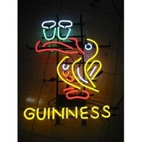 """Guinness Beer Bar Pub Handcrafted Real Glass Tube Neon Light Sign 18"""" X 14"""""""