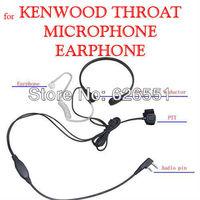10X throat bone vibration earpiece microphone headset;quality earphone for Kenwood baofeng uv5r puxing two way radio transceiver