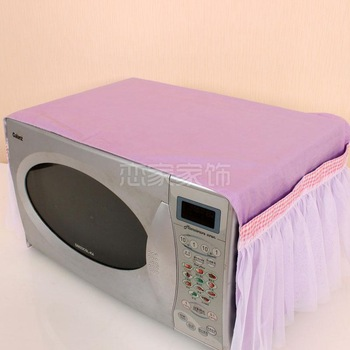 Microwave oven sheathers electric hood microwave oven cover dust cover oil gremial 100% cotton lace fabric