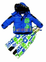 Free shipping children winter ski suit thick style for winter for wholesale and retail