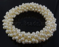 Free shipping!!!Freshwater Cultured Pearl Bracelet,Wholesale, Cultured Freshwater Pearl, white, AAA, 3-4mm, Length:7.5 Inch