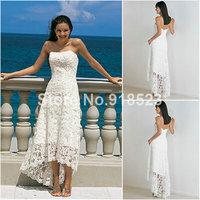 Free Shipping By DHL/FedEx Casual Beach Wedding Dress White Elegant Princess Satin Bridal Gown Custom Made Simple and Elegant