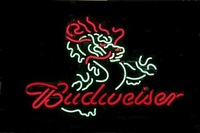 """Budweiser Dragon Beer Bar Handcrafted Real Glass Tube Neon Sign 32"""" X 24"""""""