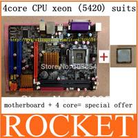 HOT! G41 desktop motherboard+5420 high level (2.50GHZ) 12 MB cache true quad-core INTEL CPU
