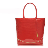 2013 new arrival cheapest SWEET CANDY RED Patent Leather TOTE BAG SHOPPER Handbag free shipping