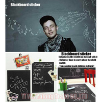 2013 hot sale 60x200CM Removable Blackboard Sticker Vinyl Chalkboard Wall Sticker free shipping