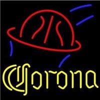 "Corona Basketball Beer Bar Pub Handcrafted Real Glass Tube Neon Light Sign 24"" X 24"""