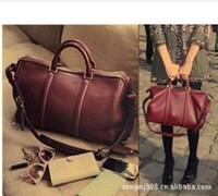 Women's Handbag Boston Bag Paper Retro Minimalist Drums Korean female bag Handbag Diagonal Package 201306WB300