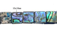 Free shipping!!!Abalone Shell Bracelet,Famous Jewelry, Square, 10x10x4mm, Length:7 Inch, 5Strands/Lot, Sold By Lot