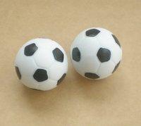 Free shipping 2pcs/lot 32mm bl/wh Foosball table soccer table ball football balls baby foot fussball