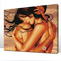 The Best Pictures DIY Digital Oil Painting  Paint By Numbers Christmas Birthday Unique Gift 40x50cm Embracing Forever D038