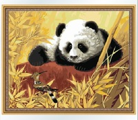 The Best Pictures DIY Digital Oil Painting  Paint By Numbers Christmas Birthday Unique Gift 40x50cm Baby Panda D074
