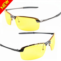 HOT New 2013 Band Designer Sunglass Men's Driver Driving Yellow Lense Polarized Night Vsion Driving Glasses Goggles Reduce Glare