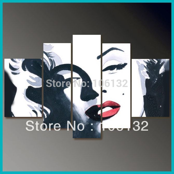 art marilyn monroe bedroom sets 5 piece canvas painting picture a0415