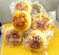 2013 new rare jumbo 11cm squishy charms  buns face bread with becking melody package  kawaii gift freeshipping
