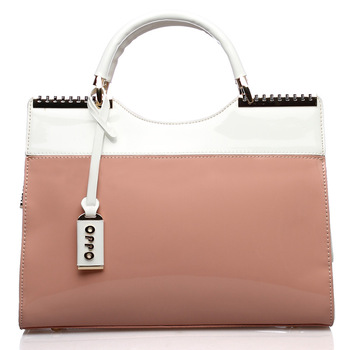 oppo bags 9814-2 fashion patent leather candy portable women's cross-body handbag 2013