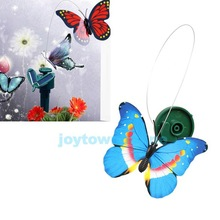 Solar Powered Dancing Flying Butterfly Garden Decoration Color At Random #1JT(China (Mainland))
