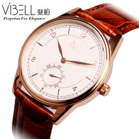 Medium-large male commercial watch fashion ultra-thin strap stainless steel waterproof male table  Free shipping