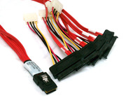 NEW LSI 3Ware MINI SAS cable SFF-8087 36PIN to SFF-8482 hard disk and power x4 SAS FREE SHIPPING SFF002