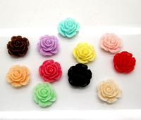 Free Shipping 8pcs/lot Mixed Rose Resin Beads Flatback Cabochon Scrapbook Fit Phone Embellishment 15mm