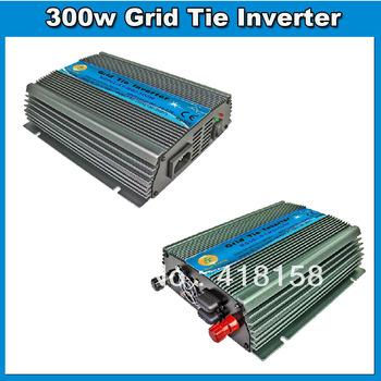 FedEx Free 300W DC10.5~28V Solar Power Grid Tie Inverter for Grid Tie System, Pure Sine mppt Grid Tie Micro Inverter