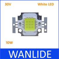 30V White LED 10W High Power LED Lamp Beads lamp Integrated Chip LED Lamp Beads 50pcs/lot free shipping