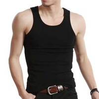 Vest male 100% cotton the trend of male basic undershirt vest summer sports