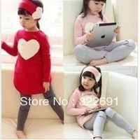 Hot-selling Free shipping,retail children clothing set,girl wear,kid's wear,3 pcs:headband+dress+pants,2 color hot sale