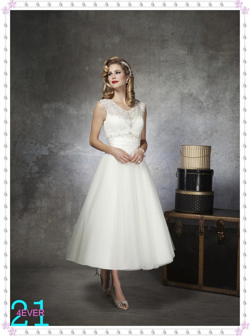 Shiny Stunning White Short Tea Length Sexy Designer Cheap Crystal Beaded Shor