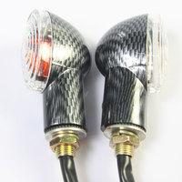 Free Shipping 12 x Amber Motorcycle Turn Signal Light Lamp Short Stalk