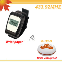 433.92MHZ Wireless service order placing system w 2 watch receivers and 15 CALL,BILL,CANCEL  DHL free shipping free