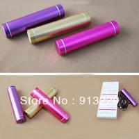 100pcs 2600MAH Lipstick Power bank universal use for Iphone 5 4 4S mp3 external battery for samsung ipod nano free DHL