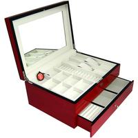 Bd casked cosmetic box jewelry cufflinks storage box storage box quality paint multi-layer solid wood box Large