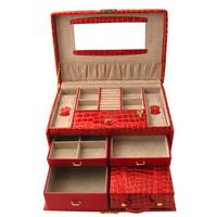 Bd casked multi-layer carry bag belt jewelry storage box chromophous , jewelry box