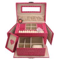 Bd leather jewelry box cosmetic box jewelry cufflinks storage box multifunctional multi-layer storage box