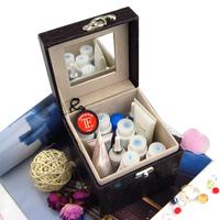 Bd leather jewelry box cosmetic box jewelry storage box r3 multi-layer cufflinks storage box Small cosmetics