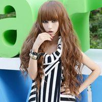 Handmade 2013 roll bulkness 128 78 long curly hair wig 1476