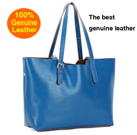 Special offer!!!   Cowhide leisure ladies bag candy which female bag leather handbag  shoulder handbag 1701A