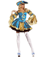 Wholesale Sexy Women's  Halloween Cosplay Costume Royal Antoinette Costume  H39210