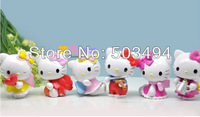 Free Shipping 30set Cute Cartoon Hello kitty PVC Collection Figure Model Toys 6pcs/Set